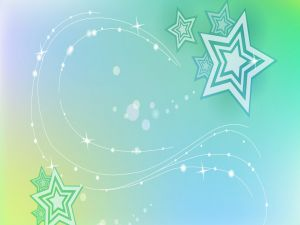 Stars on green background