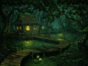 Cabin in the swamp