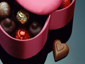 Box with bonbons