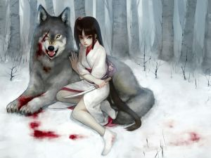 With my wolf