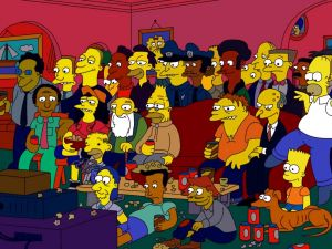 "The big family of ""The Simpsons"""