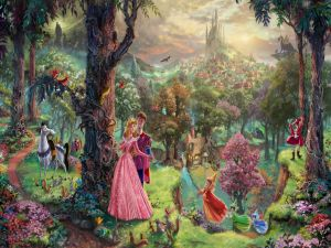 Couple in an enchanted forest