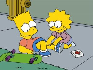 Lisa curing to Bart