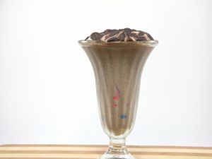 Cup of chocolate milkshake