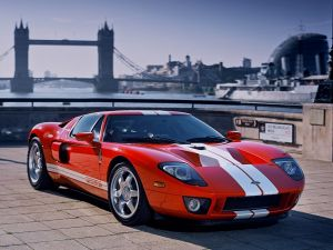 Ford GT-40 red colored