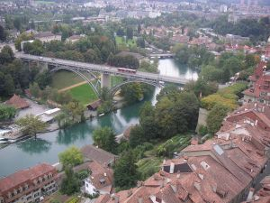 The river Aare crossing Bern, Switzerland