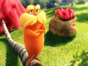 The Lorax, a small orange creature