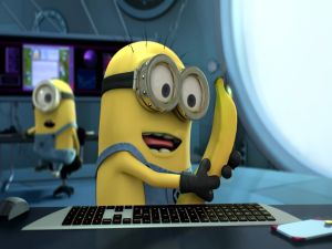 Looking a banana (Despicable Me 2)