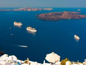 Ships in the Aegean Sea