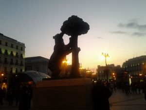 Sunset on the Puerta del Sol, Madrid