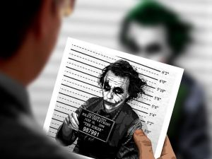 Mugshot of the Joker