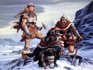 Drizzt, Bruenor and Wulfgar