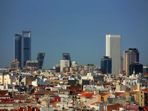Great buildings in the city of Madrid, Spain