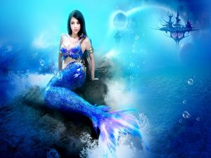Mermaid in a marine kingdom