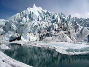 Mouth of the Matanuska Glacier in Alaska