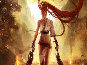 Red hair warrior