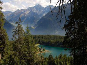 Arnisee Lake, in the Canton of Uri, Switzerland