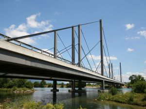 A5 motorway bridge over the river Aare (Switzerland)