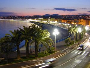 "The ""Promenade des Anglais"" in Nice, France"