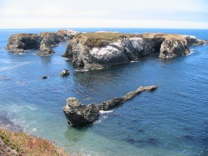 Islands near Mendocino, California