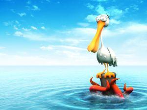 Pelican in trouble