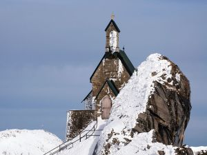 Church at the top of the mountain Wendelstein, Bavaria, Germany