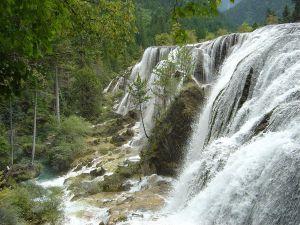 "Waterfall ""Pearl Bank"" in western Sichuan, China"