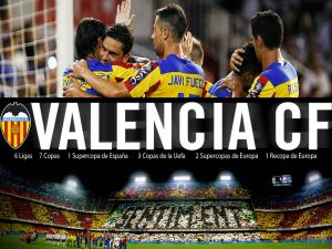 Celebrating the goal (Valencia CF)