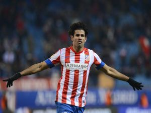 Diego Costa with the shirt of Atletico Madrid