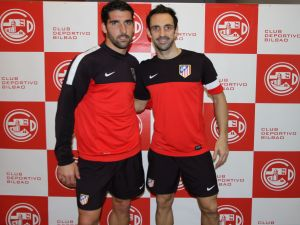 Two players from Atletico Madrid, Raul Garcia and Juanfran