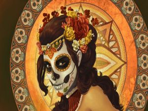 Woman celebrating the day of the dead
