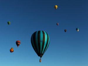 Competition of hot air balloons