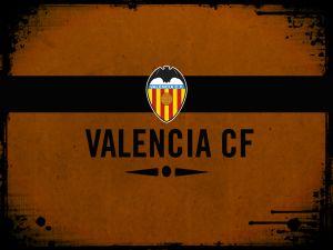 Valencia CF Shield in orange background