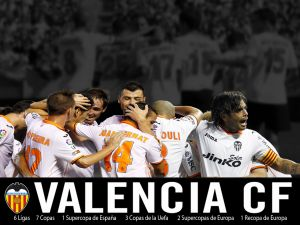 Valencia CF, celebrating a goal