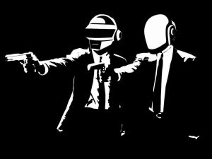 Daft Punk in Pulp Fiction style