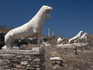 Terrace of the Lions, Delos island, Cyclades (Greece)
