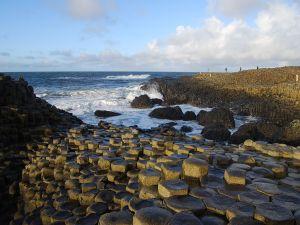 "Hexagonal basalts forming the ""Giants Causeway"", Northern Ireland"
