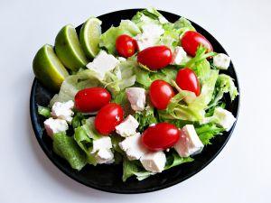Dish of fresh salad