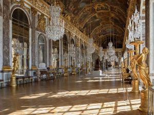 The Hall of Mirrors of the Palace of Versailles (France)