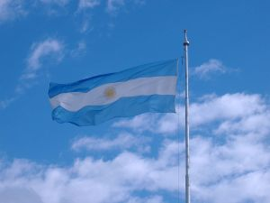 Flag of Argentina, at the Monument to the Flag