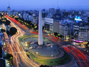 Night in the city of Buenos Aires, Argentina