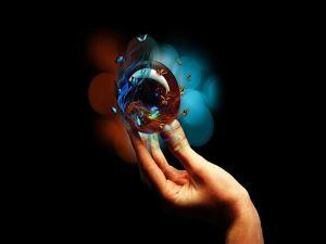 Butterflies around a crystal ball