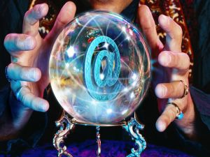 At sign in a crystal ball