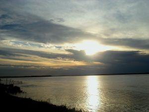 Parana River at sunset (Argentina)