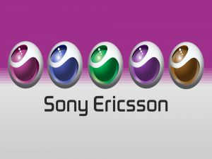 Sony Ericsson, logo in 5 colors