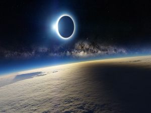 Eclipse in space