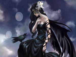 Woman crow