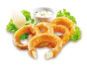 Onion rings with mayonnaise