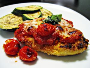Chicken breast to the parmesan with zucchini