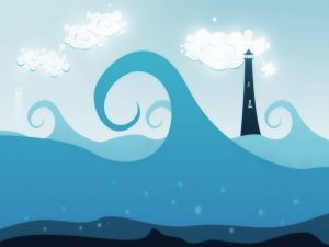 The lighthouse and the sea